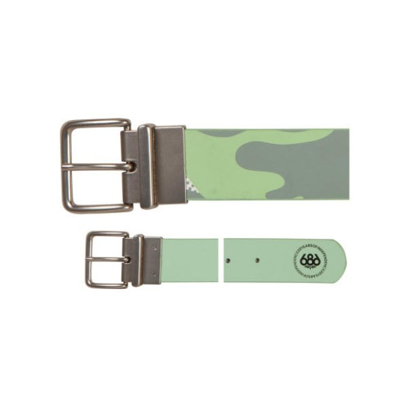 686 Womens Fluid Reversible Belt snowboard Gunmetal Green S/M 26/34'' 2013