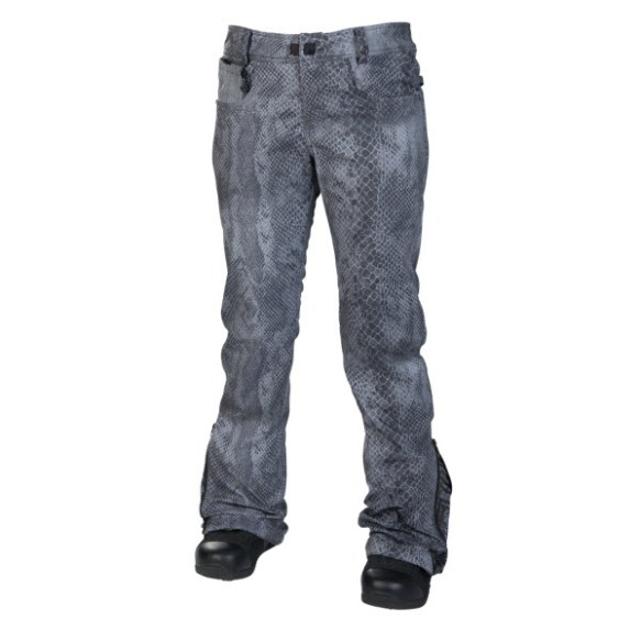 686 Reserved Secret Womens Snowboard Pants Gunmetal Python 2014