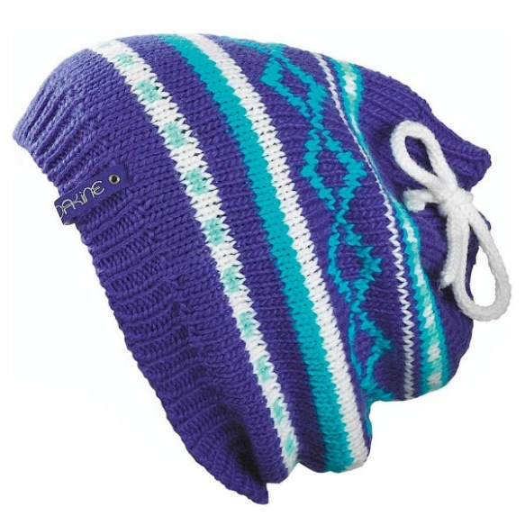 Dakine Heidi Womens Beanie / Neck Warmer Fleece Lined Snowboard Ski Blue