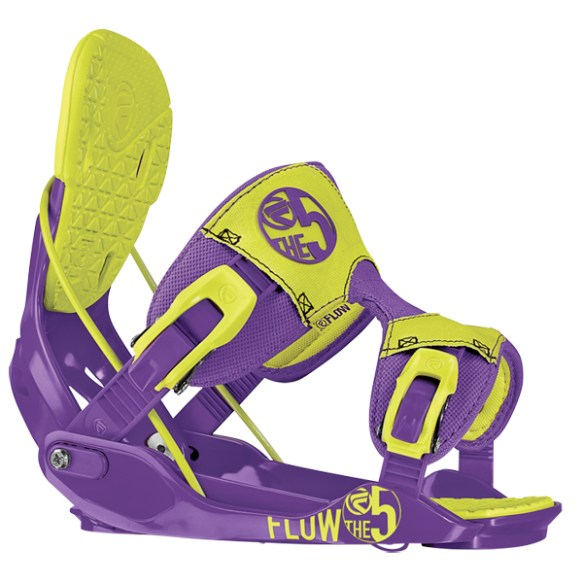 Flow Five Snowboard Binding 2014 in Toxic