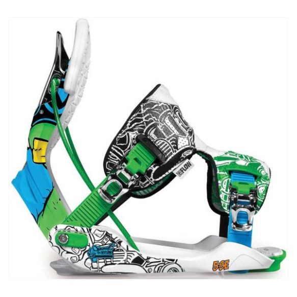 Flow Five SE Snowboard Binding 2012 in Blue Green Size Medium