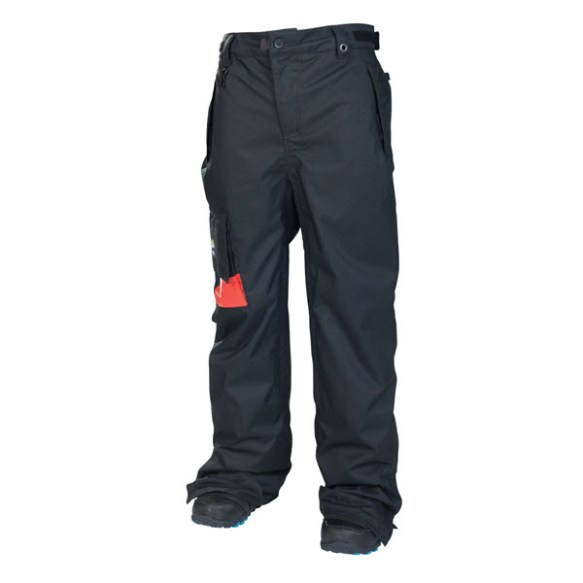686 Snaggletooth Mens Insulated Snowboard Ski Pants Black