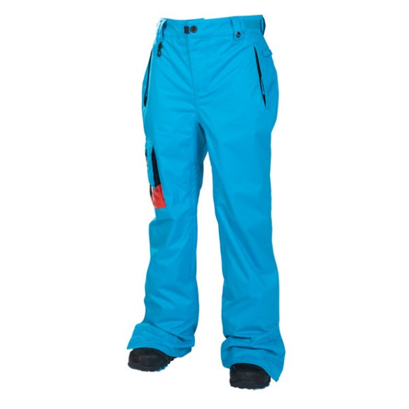 686 Snaggletooth Mens Insulated Snowboard Pants Bluebird Small 2014