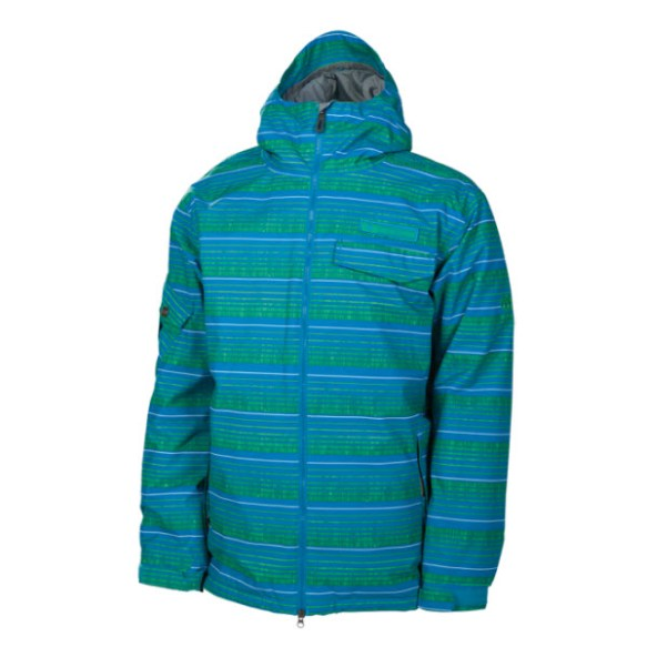 686 mannual Etch Mens Insulated Snowboard Jacket Bluebird 2014