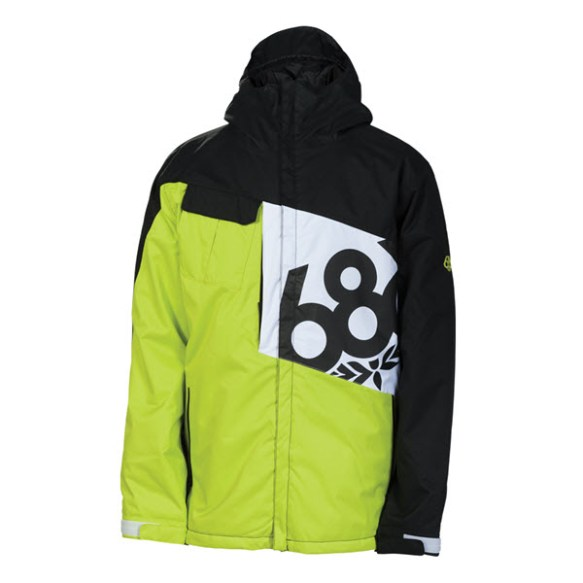 686 Mannual Iconic Snowboard Jacket Acid Colorblock 2014