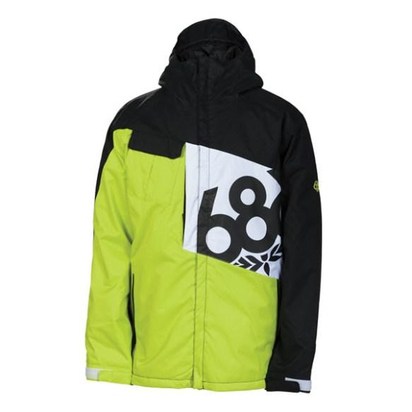 686 Mannual Iconic Snowboard Jacket Acid Colorblock 2014