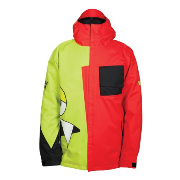686 Snaggleface II 2 Mens Insulated Snowboard Jacket Chili 2014