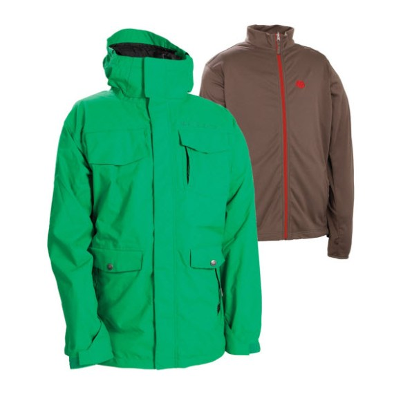686 Smarty Command Insulated Snowboard Jacket Kelly Green 2012