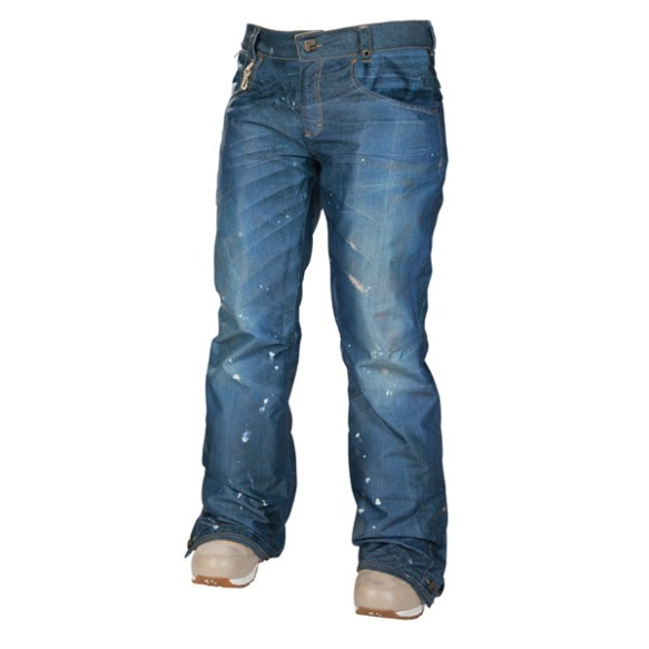 686 Reserved Destructed Denim Insulated Womens Snowboard Pant 2014