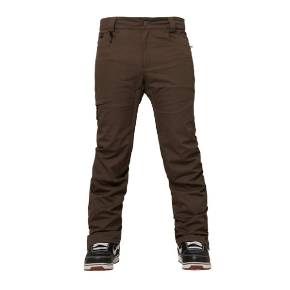 686 Parklan Parcel Pant Coffee Pincord Sample Mens Snowboard Pants 2015