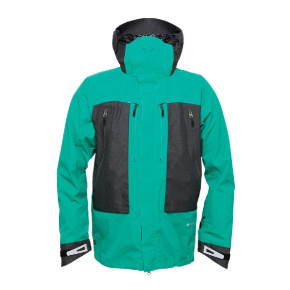686 GLCR Advance Thermagraph Snowboard Jacket Emerald Heather Large Smaple 2015