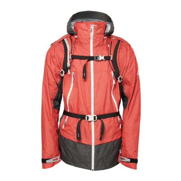 686 Limited Gregory Targhee Snowboard Jacket Brick heather Large Sample 2015