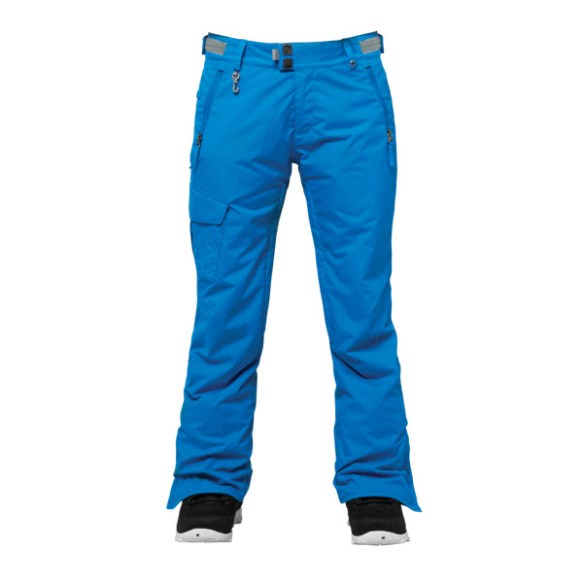 686 Authentic Misty Womens Snowboard Pants Blue Medium Sample 2015