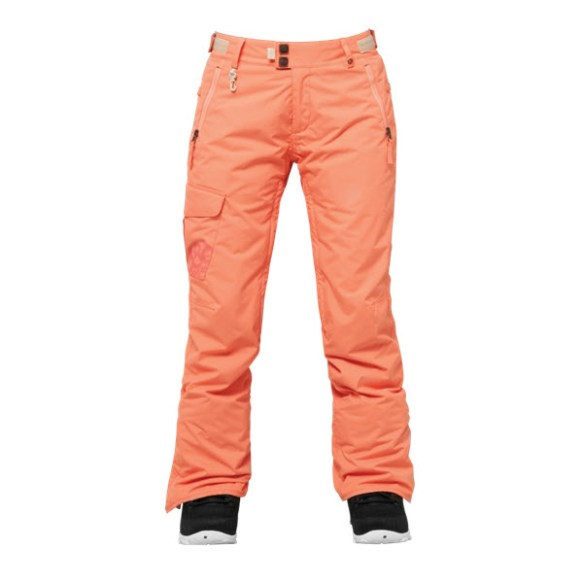 686 Authentic Patron Womens Snowboard Pants Coral Medium Sample 2015