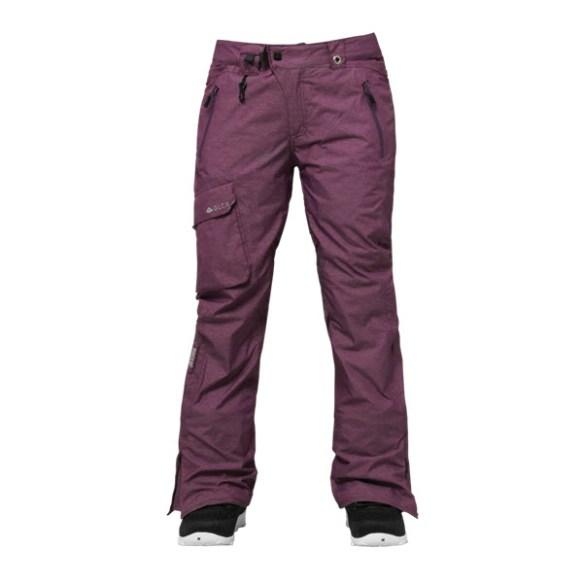 686 GLCR Trail Thermagraph Womens Snowboard Pants Plum Medium Sample 2015