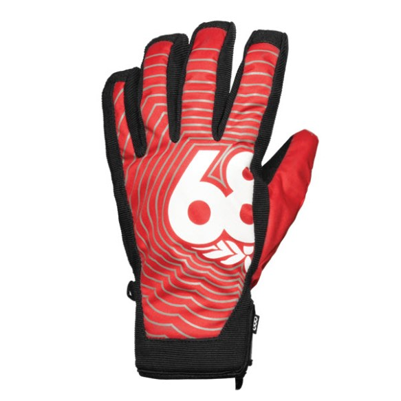 686 Authentic Icon Pipe Mens Snowboard Gloves Cardinal Red Large Sample 2015