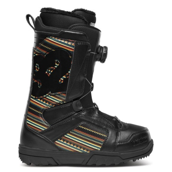 Thirtytwo 32 Womens STW BOA Snowboard Boots New Sample Black Print 2014 UK 4.5