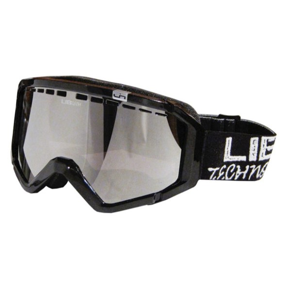 Lib Tech Logo Night Rider Black Snowboard Goggles Orange Chrome Lens 2012