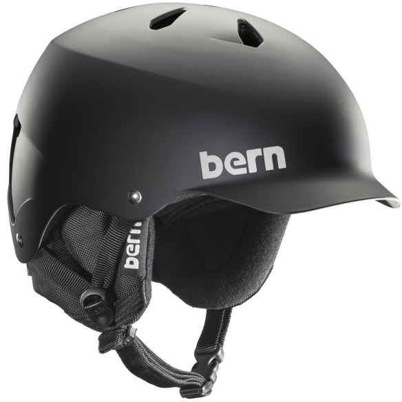 Bern Watts EPS Snowboard Ski Helmet New 2015 Matte Black 8Tracks Audio Liner