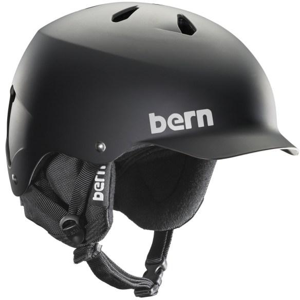 Bern Watts EPS Snowboard Ski Helmet New 2015 Matte Black 8Tracks Audio Liner