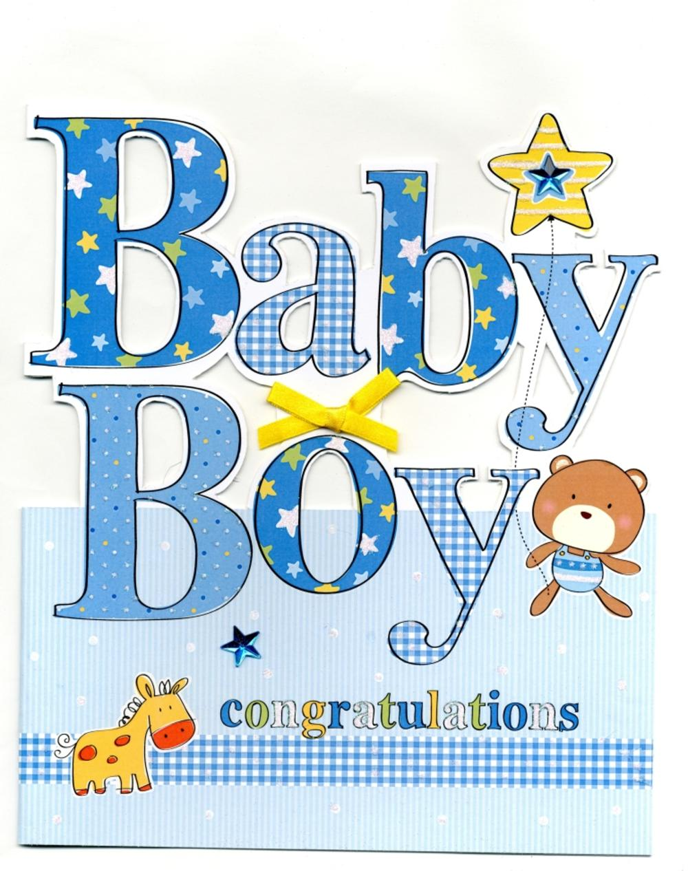 Lovely Large New Baby Boy Congratulations Greeting Card Large New Baby Boy Congratulations Greeting Card Cards Love Kates Congrats On Baby Sayings Congrats On Baby Meme baby shower Congrats On Baby