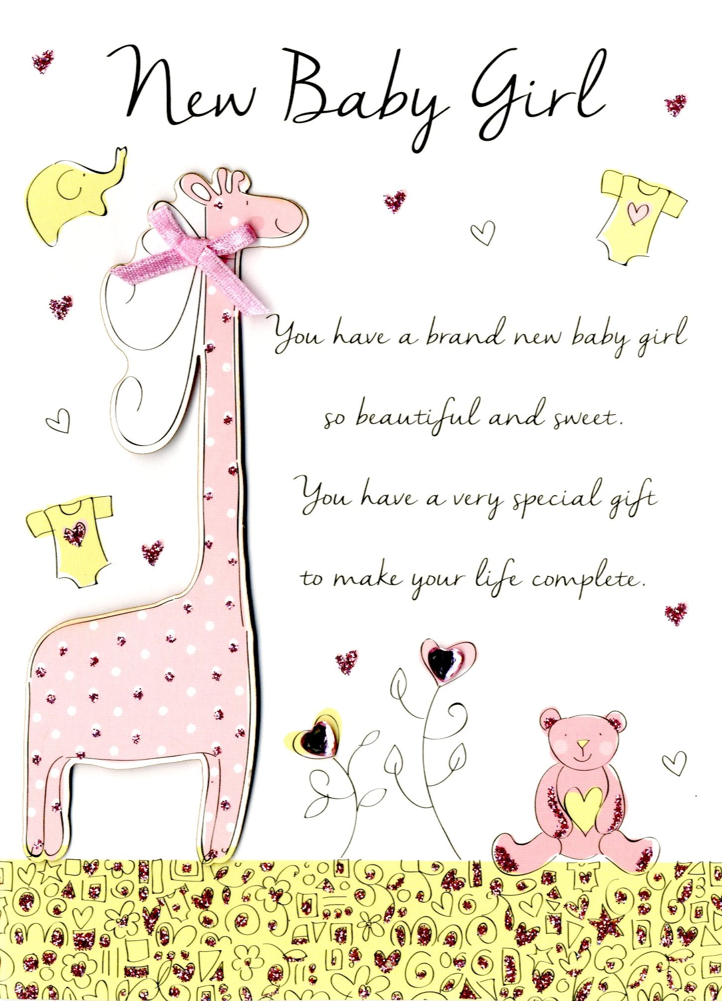 Catchy New Baby Girl Congratulations Greeting Card New Baby Girl Congratulations Greeting Card Cards Love Kates Congratulations On Your Baby Girl Islamic Congratulations On Your Baby Girl Messages baby shower Congratulations On Your Baby Girl