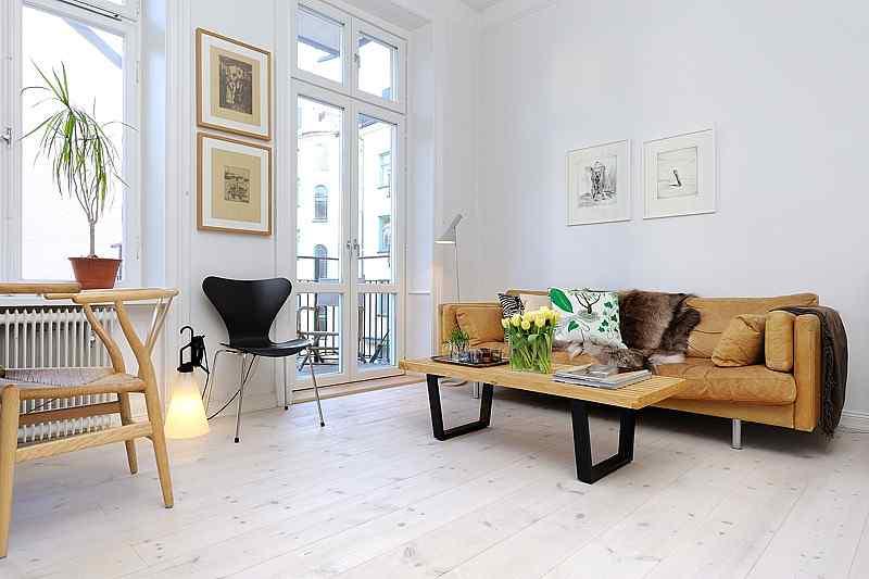 Decoraci n de monoambientes estilo escandinavo y muebles - Estilo escandinavo decoracion ...