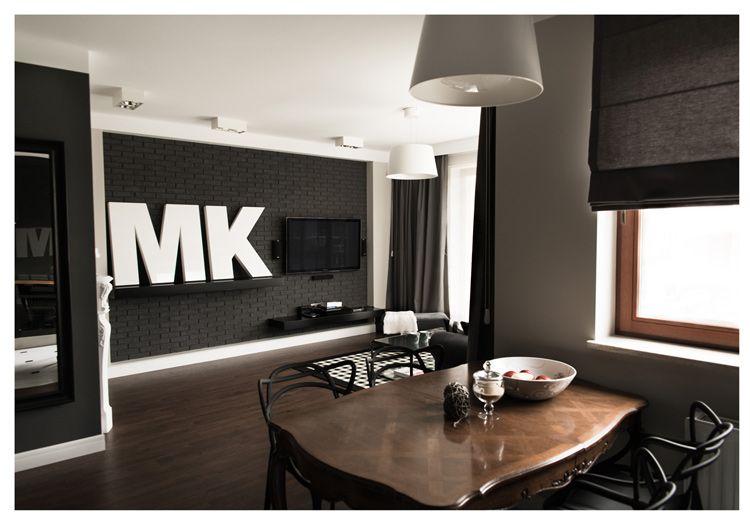 Interiores de un departamento en blanco y negro - Decoracion de interiores en blanco ...