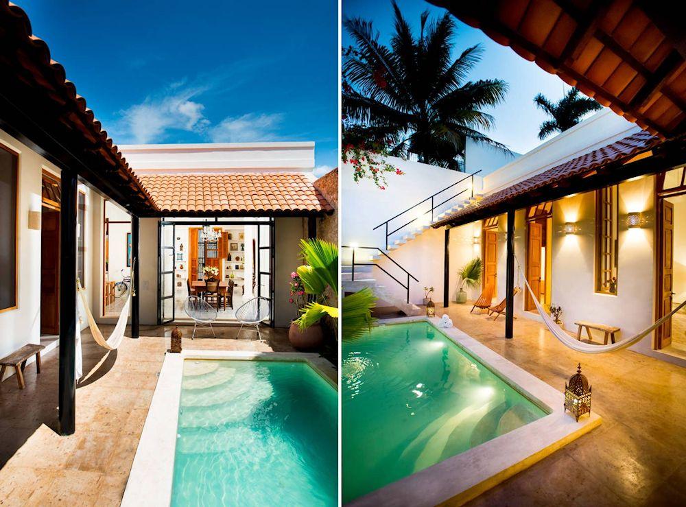 Dise o de exteriores 2 patios modernos con pileta - Piscinas en patios interiores ...