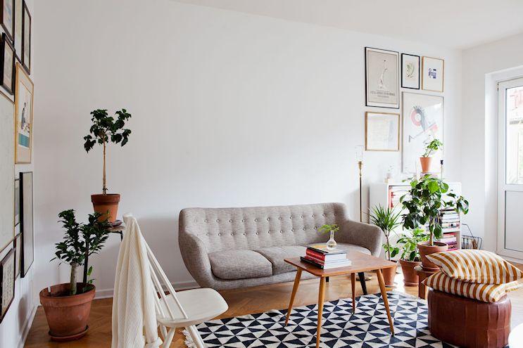 Departamento de 2 ambientes en estilo nórdico y vintage