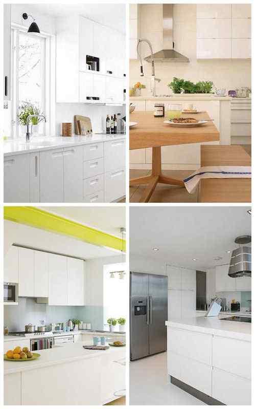 Cocinas en blanco de estilo moderno para inspirarse for Cocinas estilo moderno