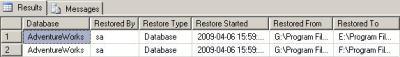 restore sql server