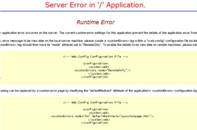 Sharepoint Custom Erro