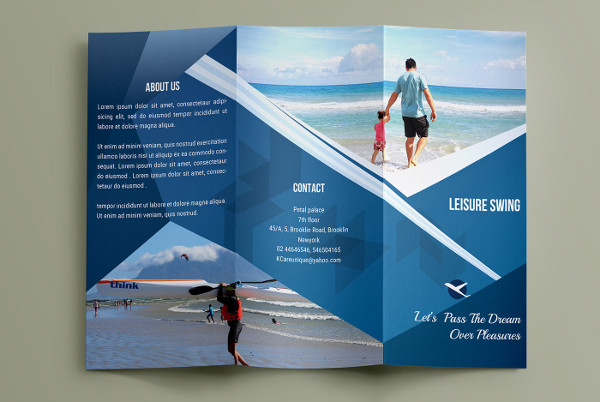 15  Examples of Travel Brochure Design   PSD  AI  Vector EPS Trifold Travel Brochure