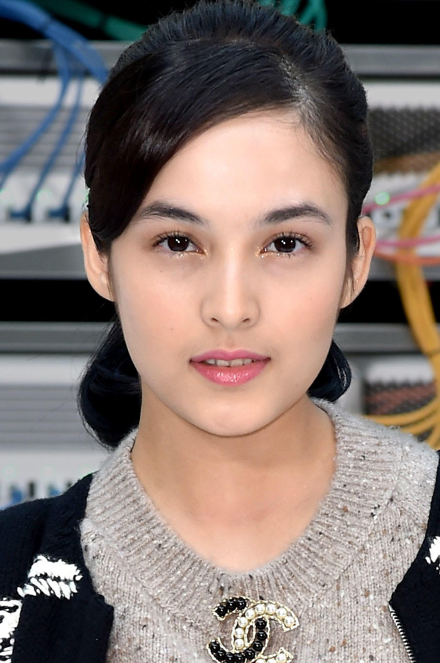 chelsea islan at the chanel show during paris fashion week