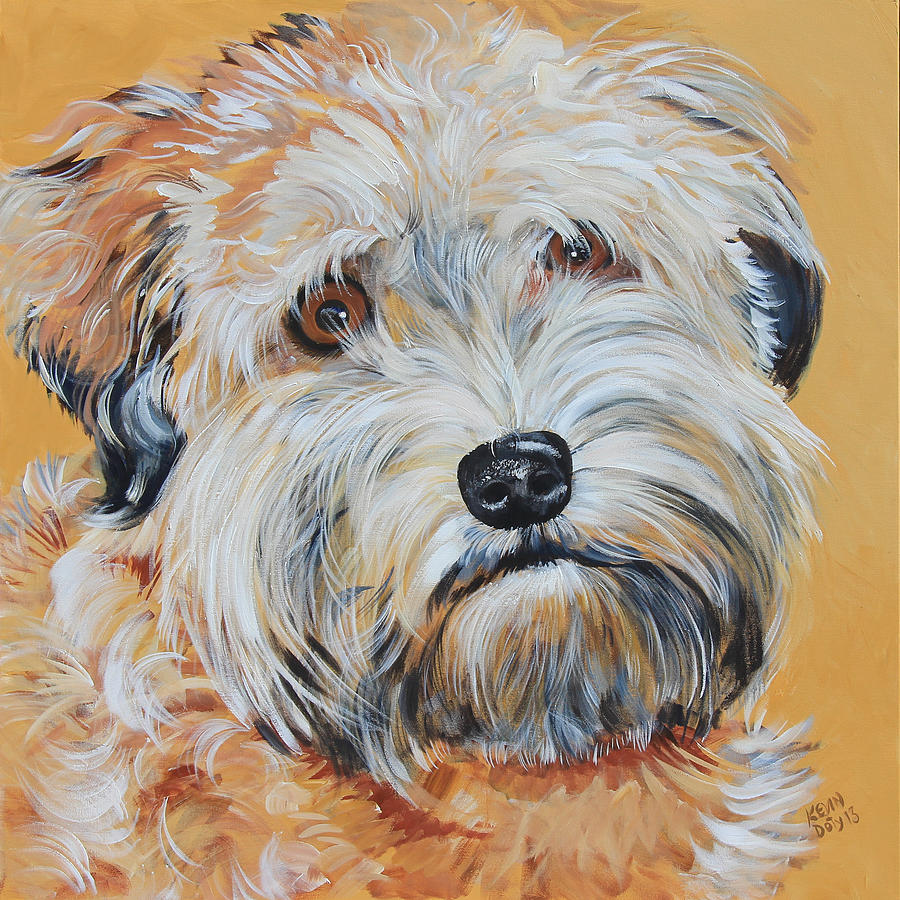 Preferential Gen Retriever Wheaten Terrier Mix Dogs Dog Portrait Painting Bailey Soft Coated Wheaten Terrier By Kevin Doty Bailey Soft Coated Wheaten Terrier Painting By Kevin Doty Wheaten Terrier Mix bark post Wheaten Terrier Mix