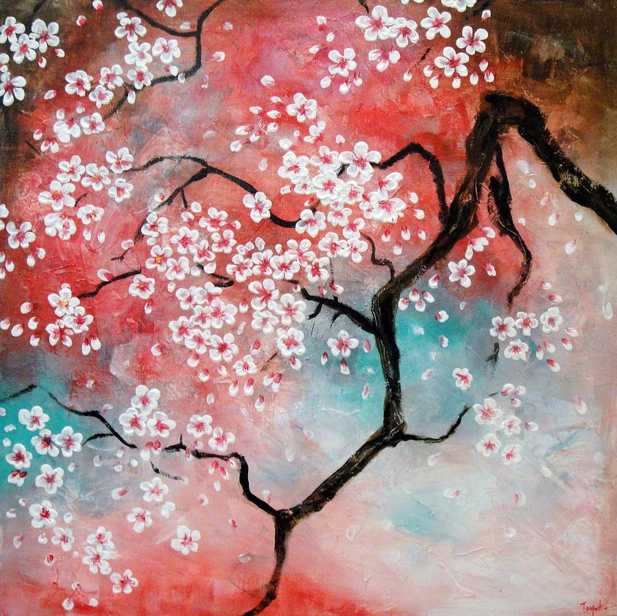 Divine Japanese Painting Cherry Blossoms By Tomoko Koyama Cherry Blossoms Painting By Tomoko Koyama Cherry Blossom Painting Cherry Blossom Painting Van Gogh houzz 01 Cherry Blossom Painting