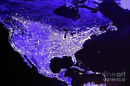 the states at night photograph by giliane e mansfeldt