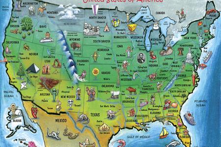 usa cartoon map by kevin middleton royalty free and