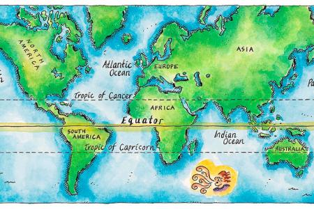 Map with equator line world 11 map of the world equator jennifer thermes gumiabroncs Gallery