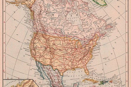 old 1920's united states map by joshua hullender