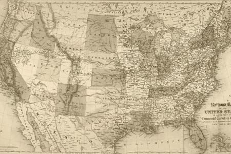 1871 united states railroad map usa sepia digital art by