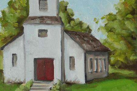 Old White Church In The Texas Hill Country Amy Higgins