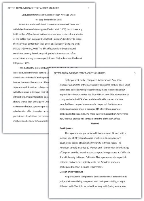 block style format research paper