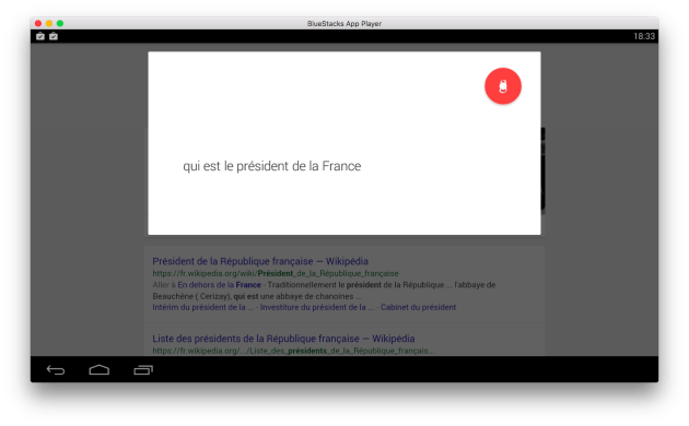 Google Now bluestack