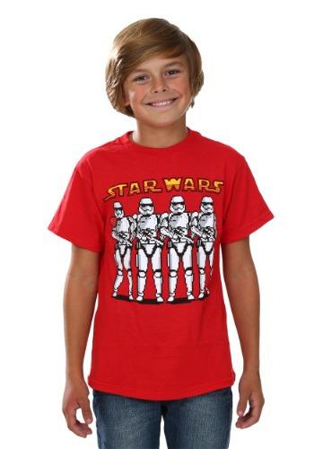 Boys Star Wars Episode 7 Pixel Trooper Line T-Shirt