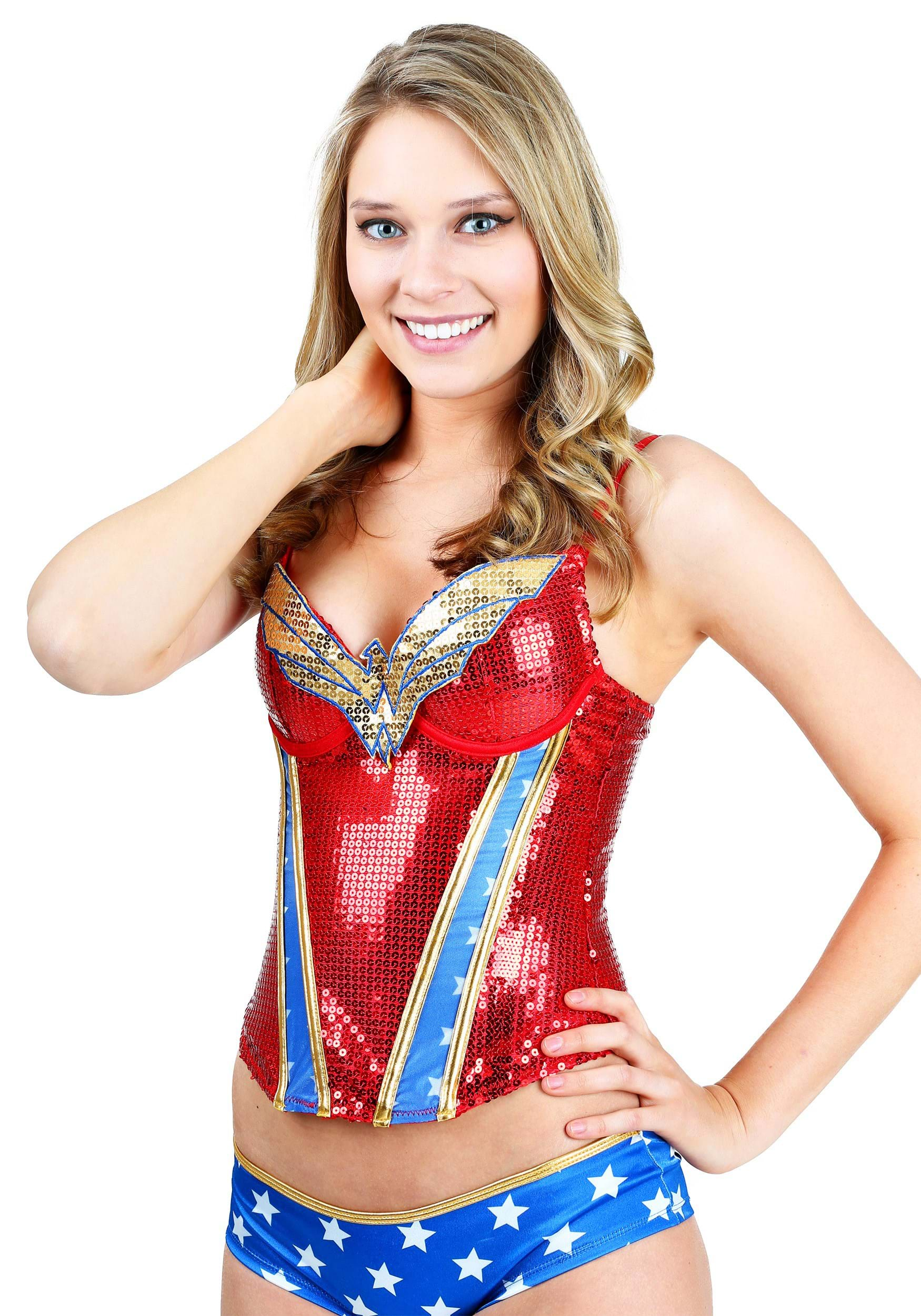 Upscale Wonder Woman Sequin Corest Wonder Woman Sequin Corset Wonder Woman Pajamas Uk Wonder Woman Pajamas 2t baby Wonder Woman Pajamas