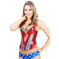 Small Crop Of Wonder Woman Pajamas