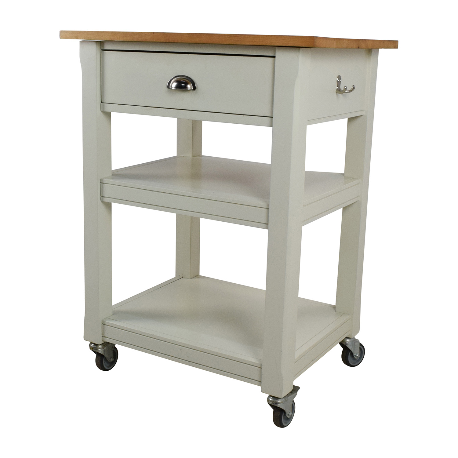 second hand rolling kitchen cart with cutting board kitchen cutting table Tables shop Rolling Kitchen Cart with Cutting Board online
