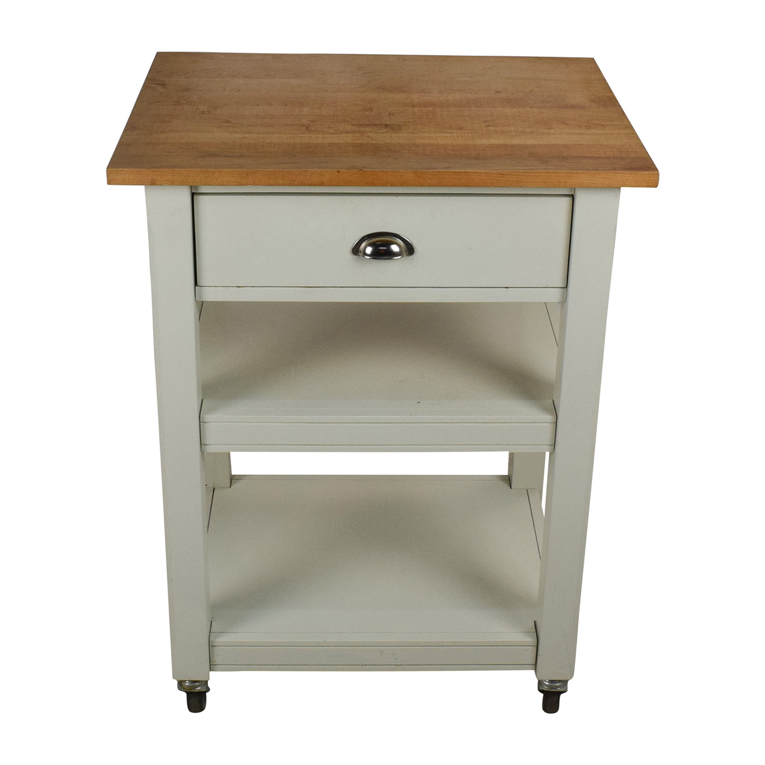 second hand rolling kitchen cart with cutting board kitchen cutting table Rolling Kitchen Cart with Cutting Board nyc
